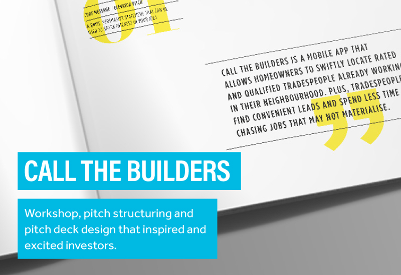 Call The Builders Pitch Deck Design Design