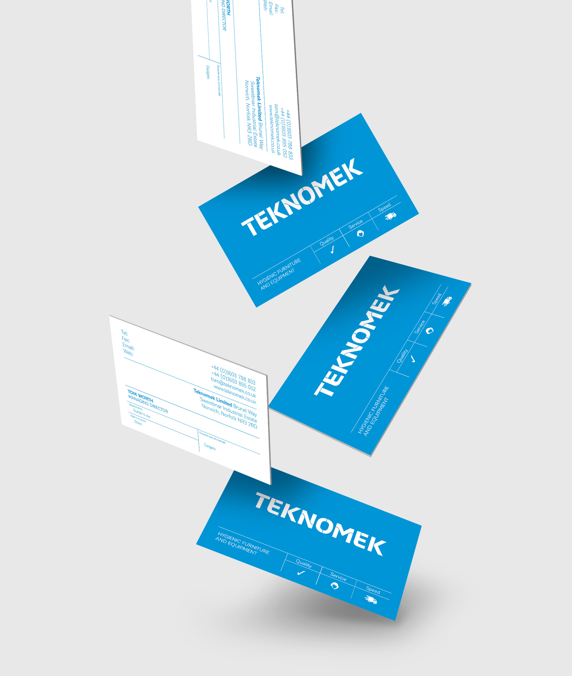 Teknomek Business cards