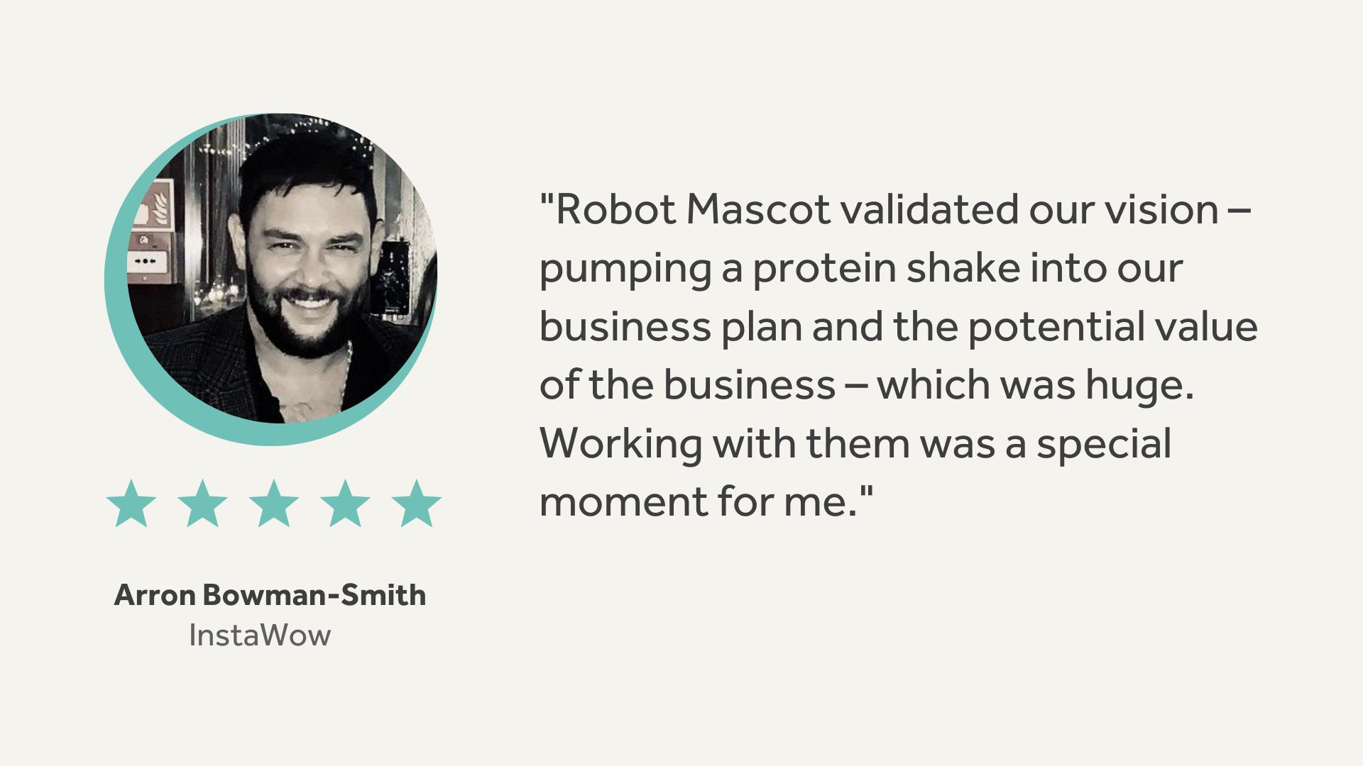 Robot Mascot | InstaWow Testimonial